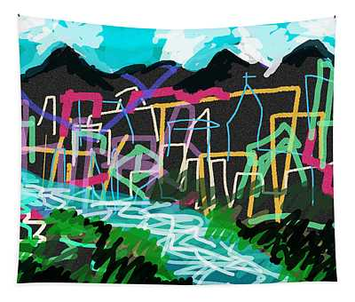 South American City Tapestry