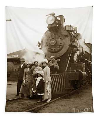 S P Baldwin Locomotive 2285  Class T-26 Ten Wheel Steam Locomotive At Pacific Grove California 1910 Tapestry