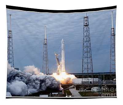 Spacex-2 Mission Launch Nasa Tapestry