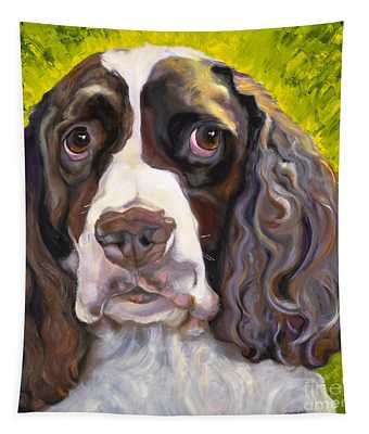 Spaniel The Eyes Have It Tapestry
