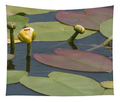 Spatterdock Heart Tapestry