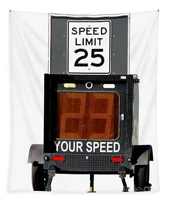 Speed Limit Monitor Tapestry
