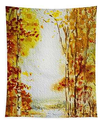 Splash Of Fall Tapestry