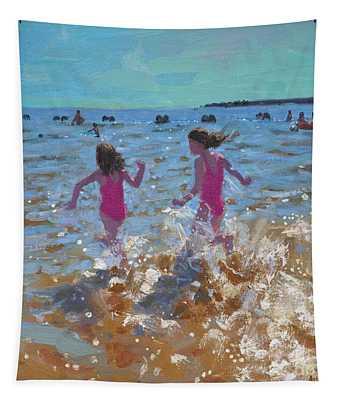 Splashing In The Sea Tapestry