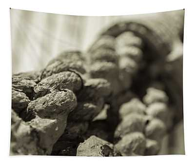Spliced And Bound Black And White Sepia Tapestry
