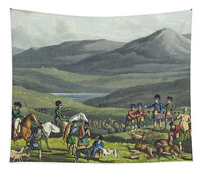 Sporting Meeting In The Highlands Tapestry