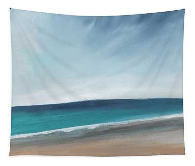 Spring Beach- Contemporary Abstract Landscape Tapestry