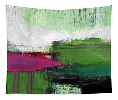 Spring Became Summer- Abstract Painting  Tapestry