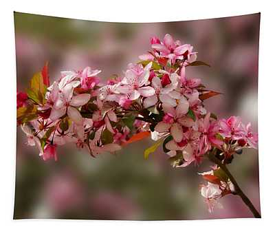 Cheery Cherry Blossoms Tapestry