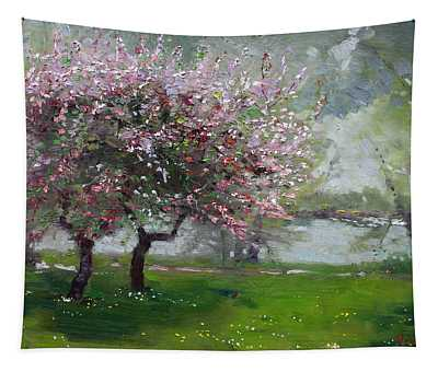 Spring By The River Tapestry