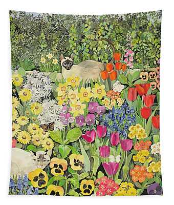 Spring Cats Tapestry