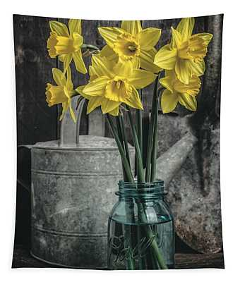 Spring Daffodil Flowers Tapestry