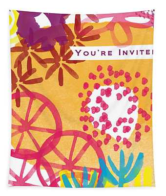 Spring Floral Invitation- Greeting Card Tapestry