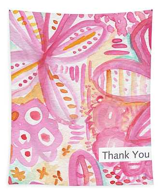 Spring Flowers Thank You Card Tapestry
