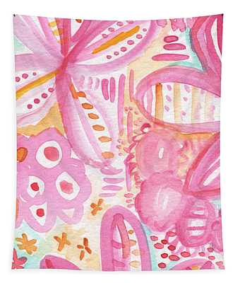 Spring Flowers- Watercolor Painting Tapestry