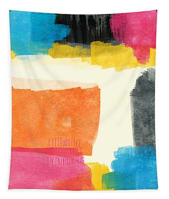 Spring Forward- Colorful Abstract Painting Tapestry
