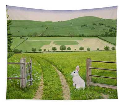 Spring Rabbit Tapestry