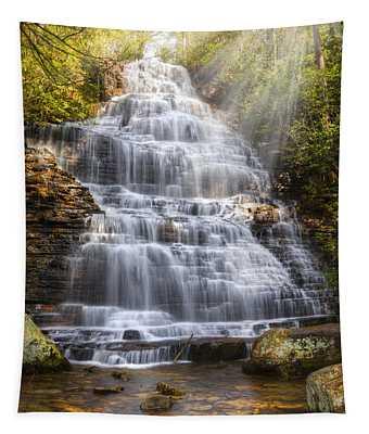 Springtime At Benton Falls Tapestry