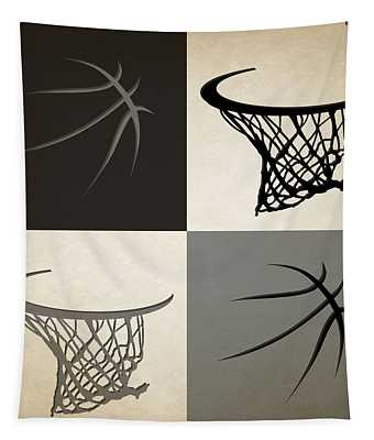 Spurs Ball And Hoop Tapestry
