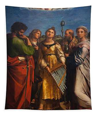 St. Cecilia With Sts. Paul John Augustine And Mary Magdalene Tapestry