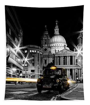 St Pauls With Black Cab Tapestry