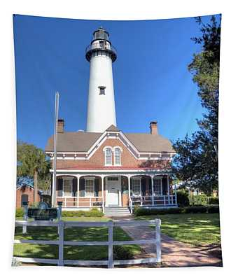 St. Simons Island Light Station Tapestry
