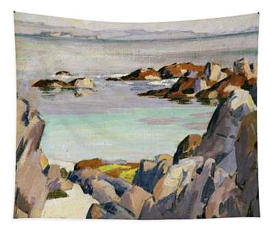 Staffa And Rhum From Iona Tapestry
