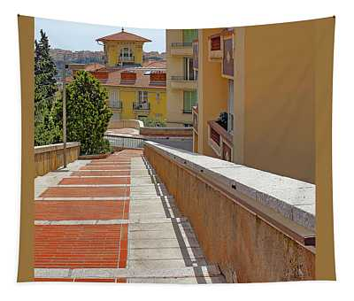 Stairway In Monaco French Riviera Tapestry