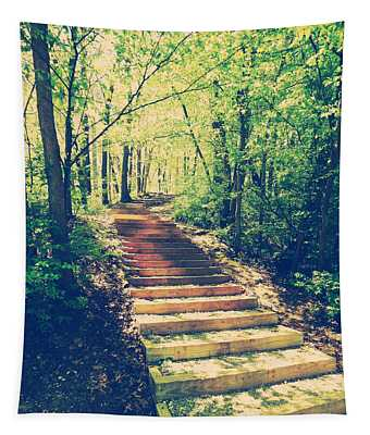 Stairway Into The Forest Tapestry