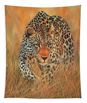 Stalking Leopard Tapestry