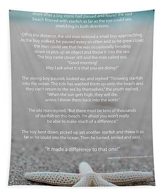 Starfish Make A Difference  Tapestry
