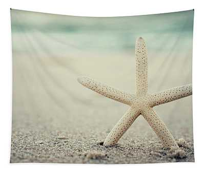 Starfish On Beach Vintage Seaside New Jersey  Tapestry