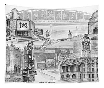 Stark County Ohio Print - Canton Lives Tapestry