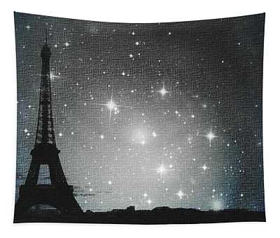 Starry Night In Paris - Eiffel Tower Photography  Tapestry