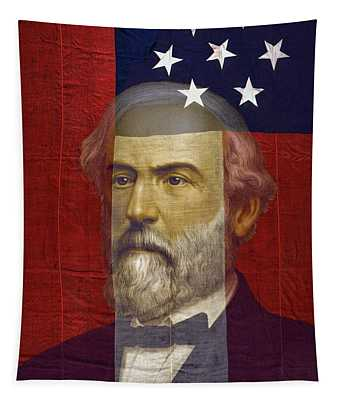 Stars And Bars General Lee Tapestry