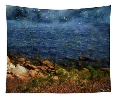 Stars Falling Into The Sea Tapestry