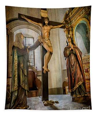 Statue Of Jesus Tapestry