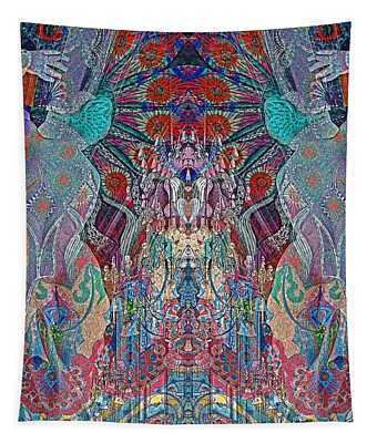 Mirrored Statues  Tapestry