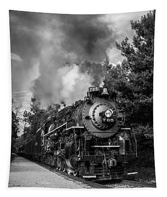 Steam On The Rails Tapestry