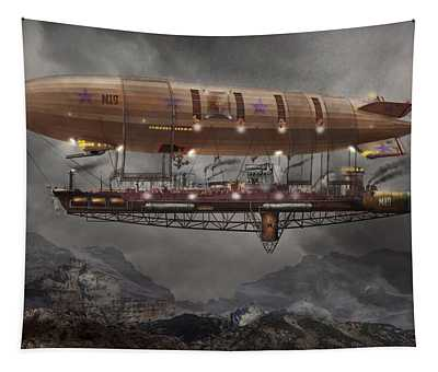 Steampunk - Blimp - Airship Maximus  Tapestry