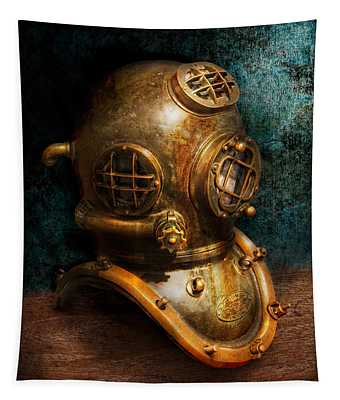Steampunk - Diving - The Diving Helmet Tapestry