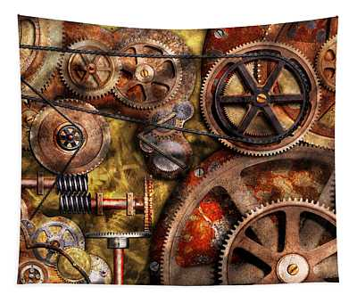 Steampunk - Gears - Inner Workings Tapestry