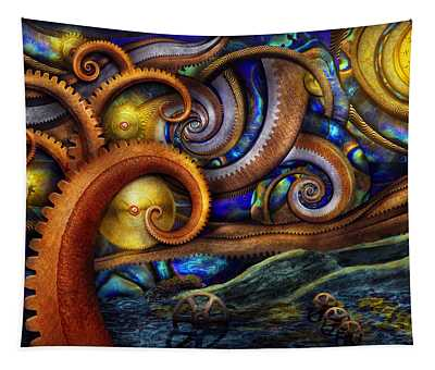 Steampunk - Starry Night Tapestry