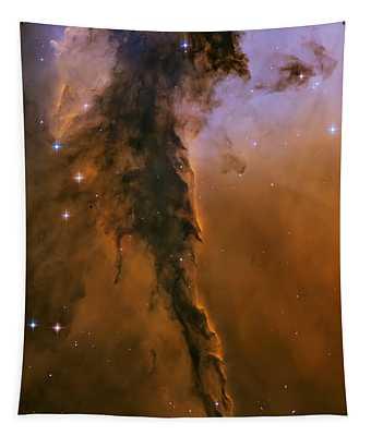 Stellar Spire In The Eagle Nebula Tapestry
