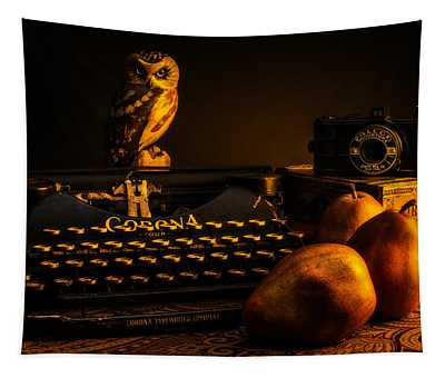 Still Life - Pears And Typewriter Tapestry