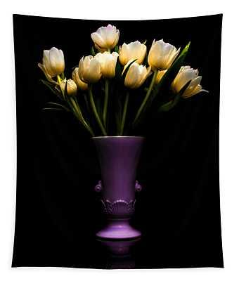 Still Life - White Tulips Tapestry