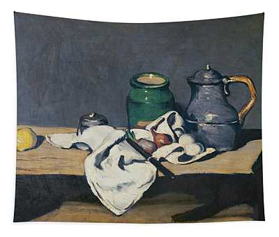 Still Life With A Tin Kettle, 1869 Oil On Canvas Tapestry