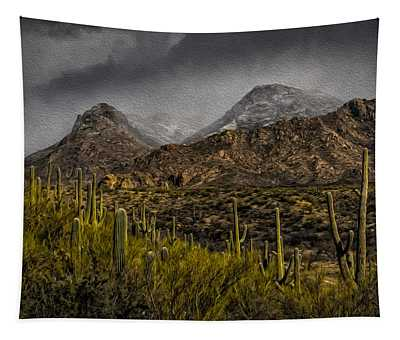 Storm Over Catalinas Aso Tapestry