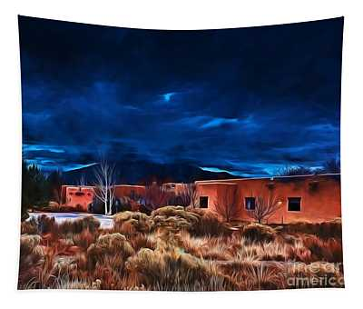 Storm Over Taos Lx - Homage Okeeffe Tapestry