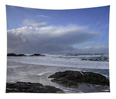 Storm Rolling In Wickaninnish Beach Tapestry